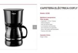 cafetera electrica con filtro permanente