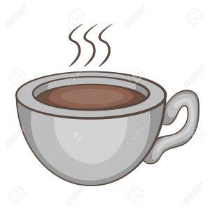 taza de cafe animado