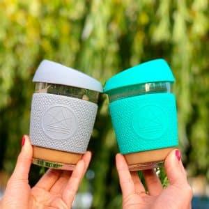 taza de cafe reutilizable