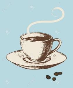 taza de cafe vintage