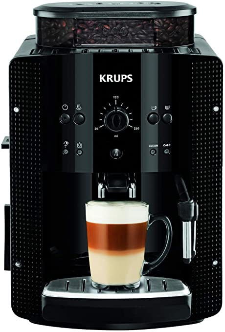 Krups EA8108 Roma - Cafetera Superautomática, 15 bares, molinillo de café cónico de metal,